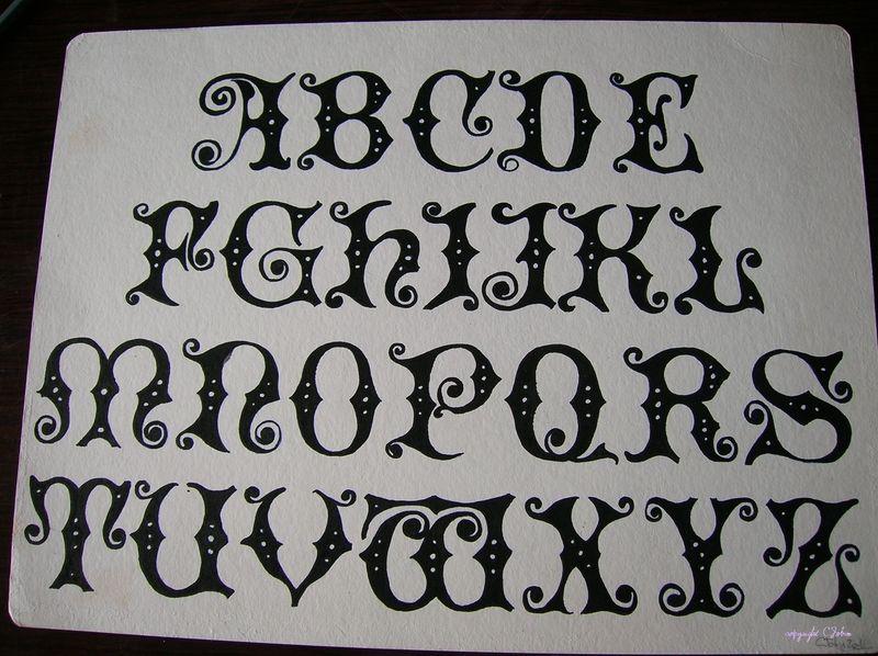 Lettrine - Dessiner l alphabet ...